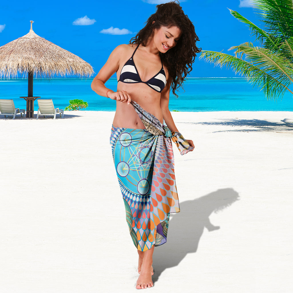 REFLECTION REACTION SARONG BEACH COVER UP SWIMSUITS POOL ONE PIECE  SHAWL SCARF WRAP UP