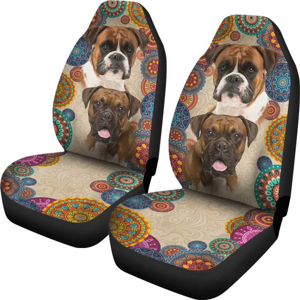 Boxer Dog Lover Themed Car Seat Covers (SET OF 2)