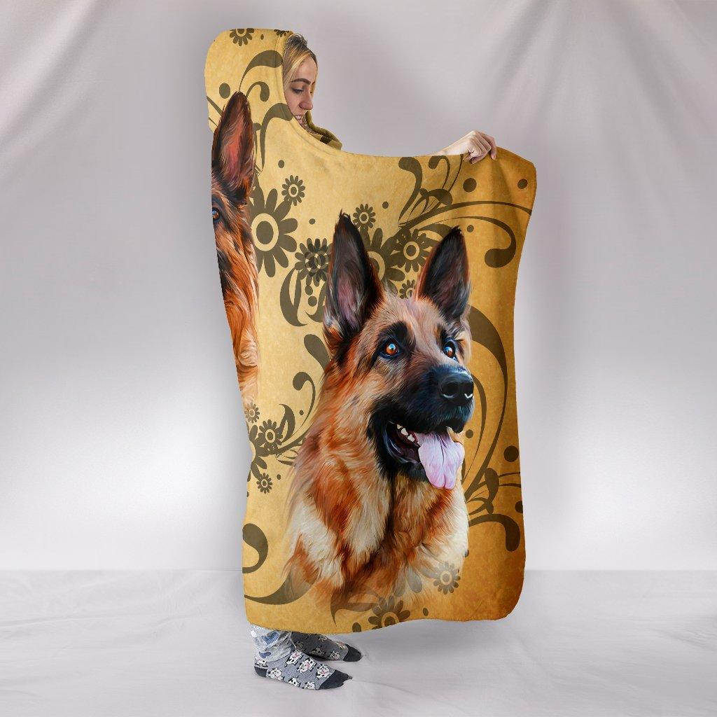 GERMAN SHEPHERD LOVER HOODED BLANKET