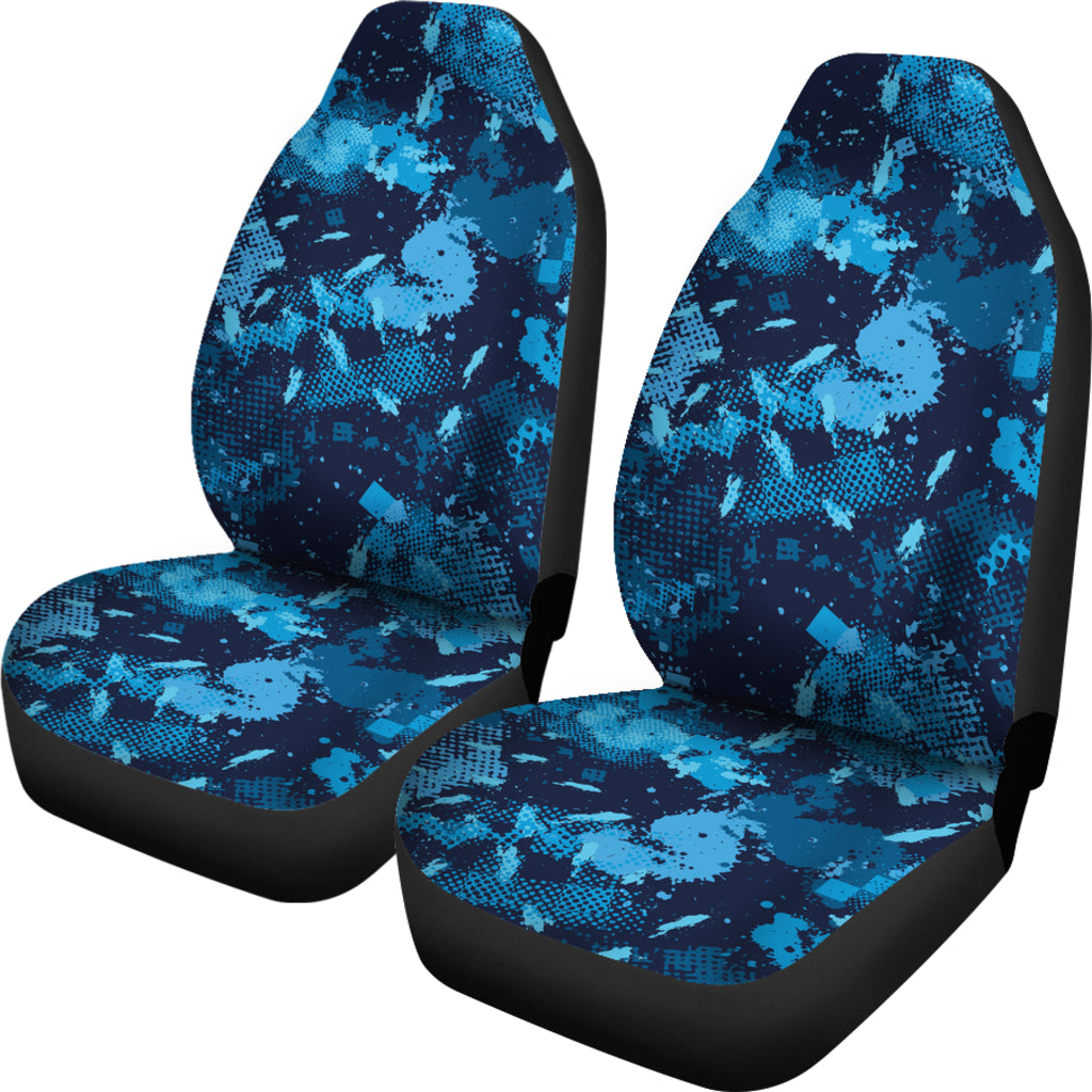 Camo Blue Themed Car Seat Covers (SET OF 2)