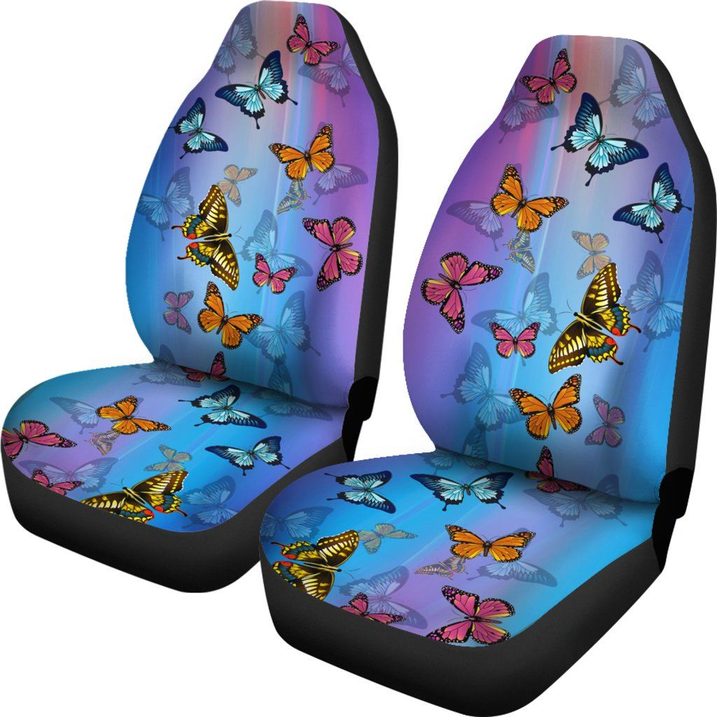 Butterfly - Blue Themed Car Seat Covers (SET OF 2)