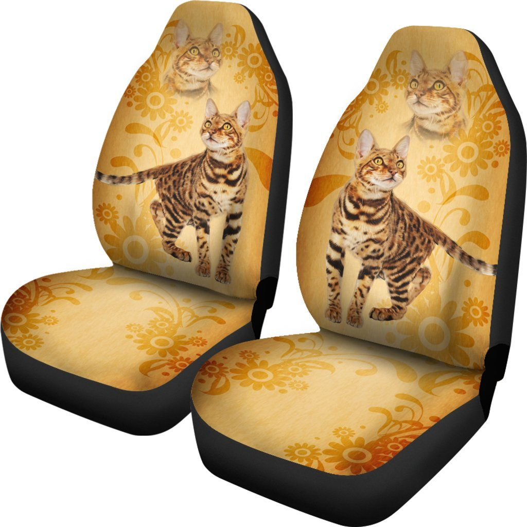 Bengal Cat Themed Car Seat Covers (SET OF 2)