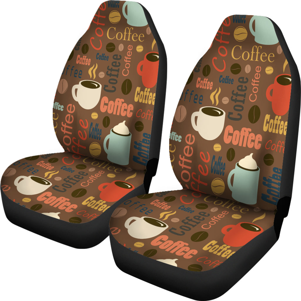 Coffee Themed Car Seat Covers (SET OF 2)