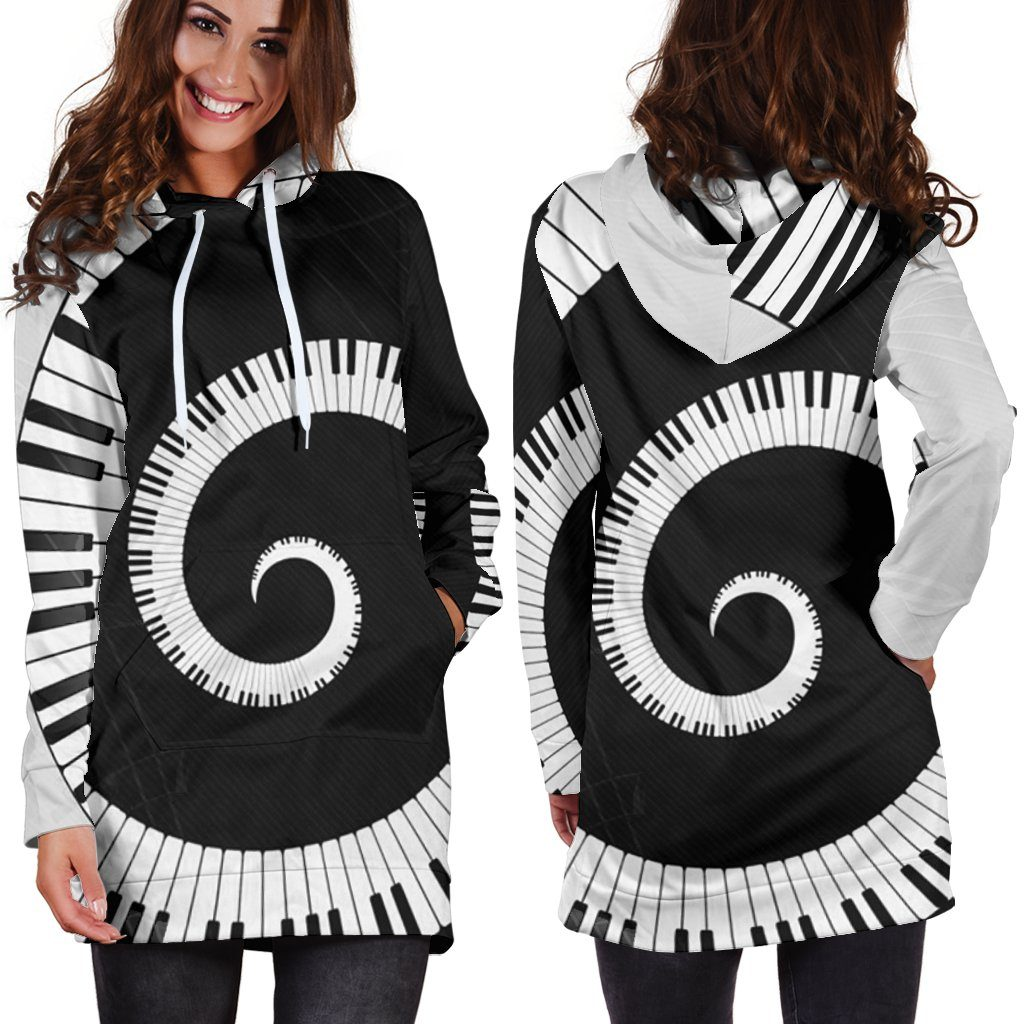 Piano Hoodie Dress (Handmade Premium Quality)