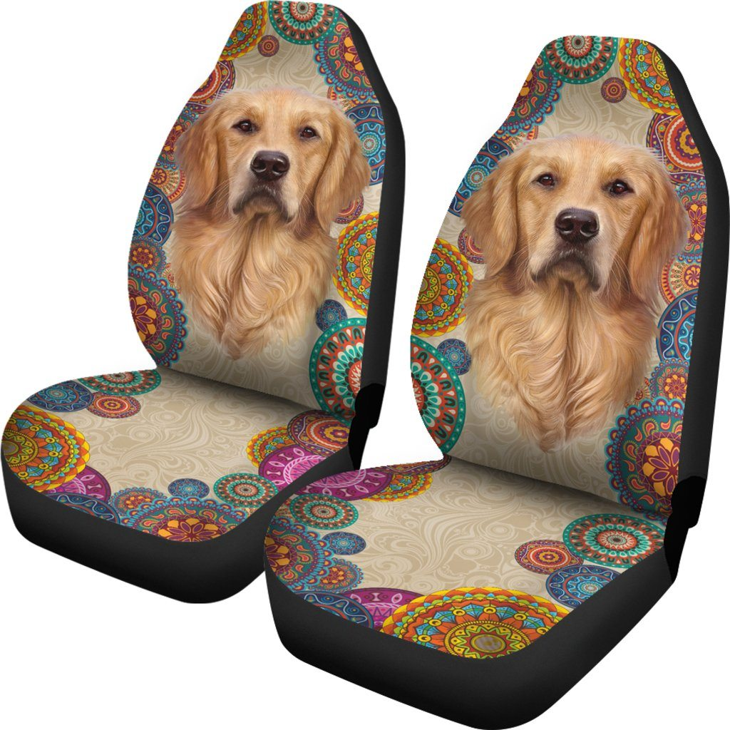 GOLDEN RETRIEVER LOVE CAR SEAT COVERS (SET OF 2)