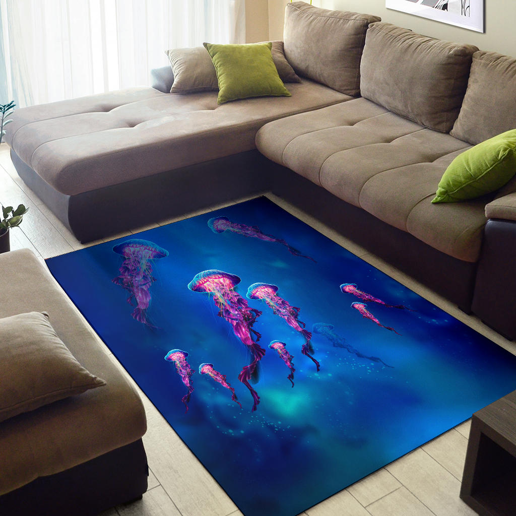 Jelly Fish  Area Rug