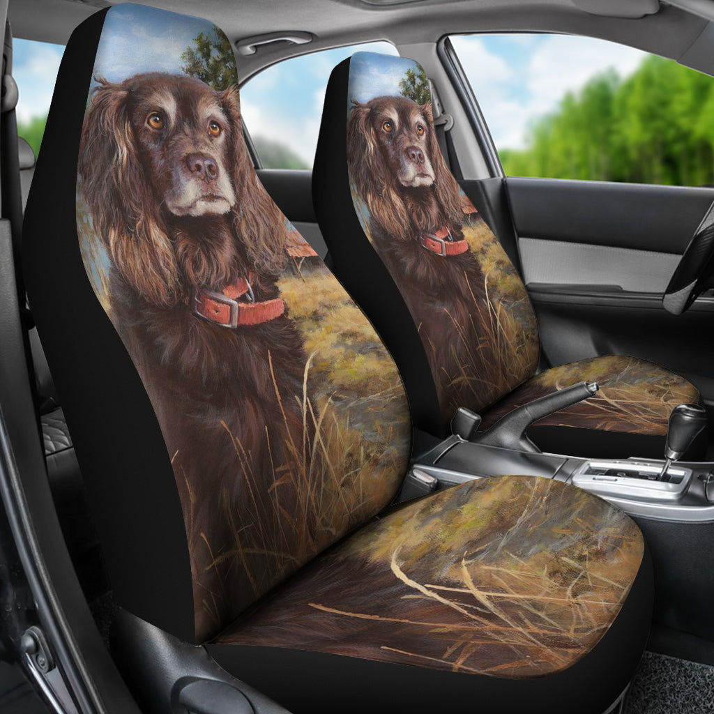 Boykin Spaniel Dog Themed Car Seat Covers (SET OF 2)