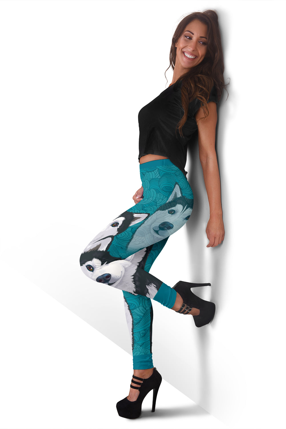 Blue Husky Leggings