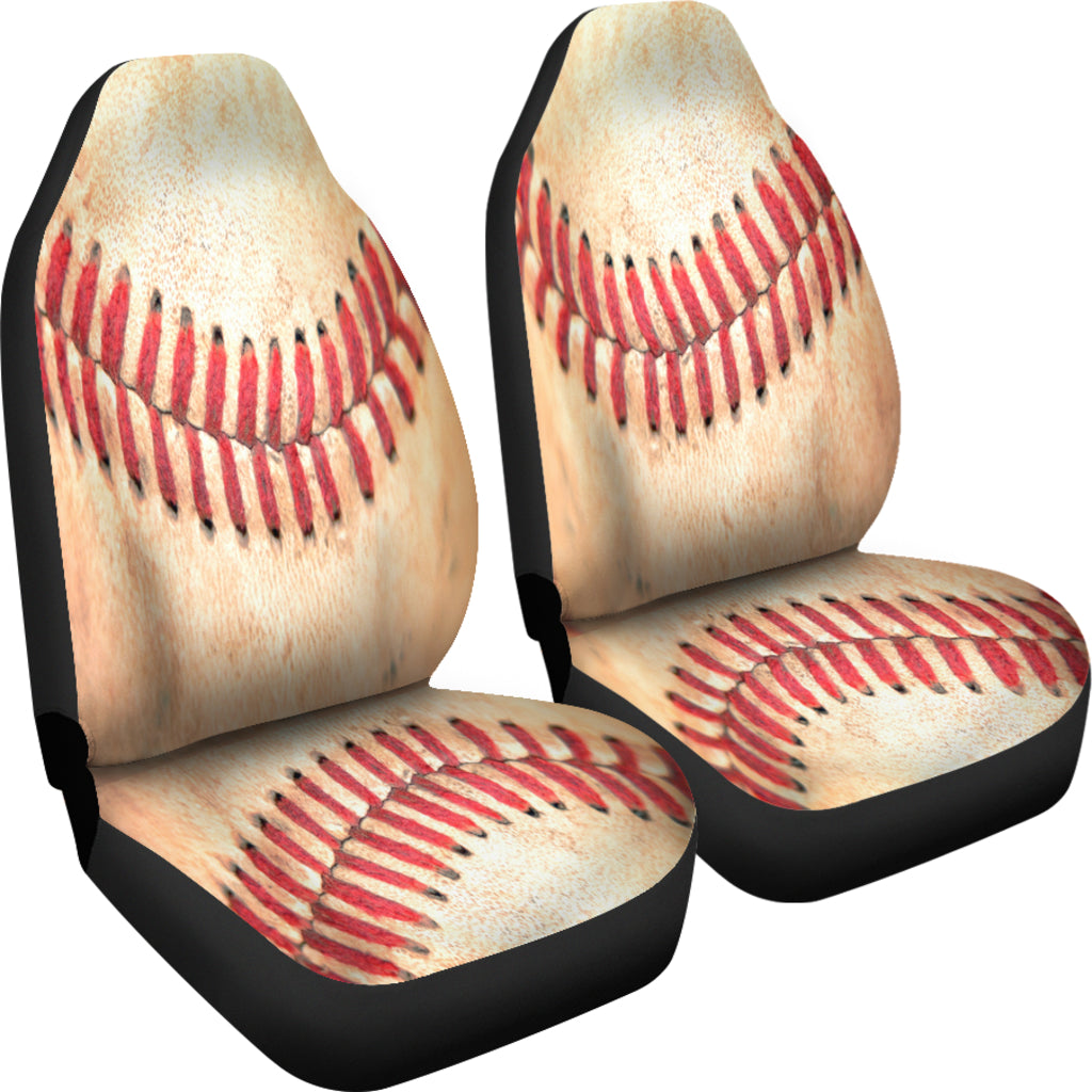 Baseball Stitches Themed Car Seat Covers (SET OF 2)