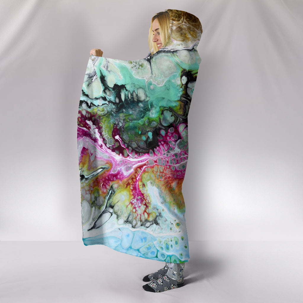 Abstract Themed Hooded Blanket