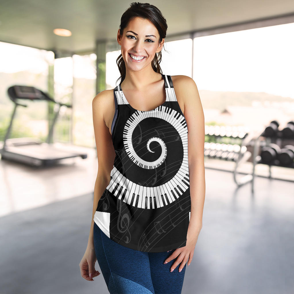 Piano Print Racerback Tank Top for Women