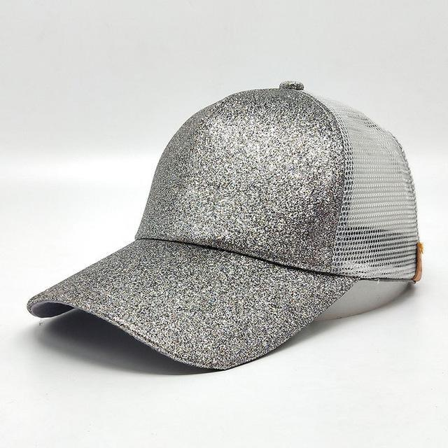 2018 Summer Ponytail Baseball Cap - Silver