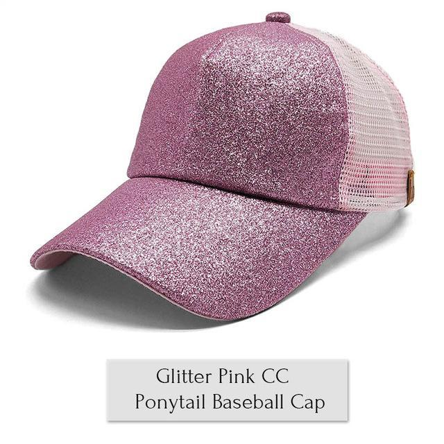 2018 Summer Ponytail Baseball Cap - Pink