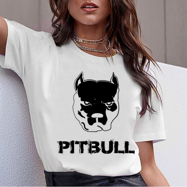 Cute and Fun Pitbull & more themed T-Shirts for Women