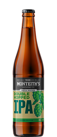 Monteith's Brewer's Series Double Hopped IPA (12x 500ml Bottles)