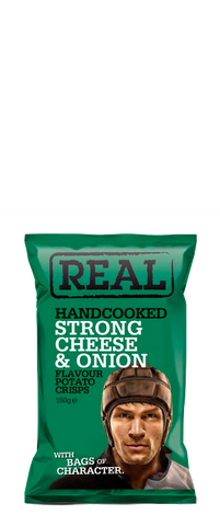 Real Crisps Strong Cheese & Onion 150g