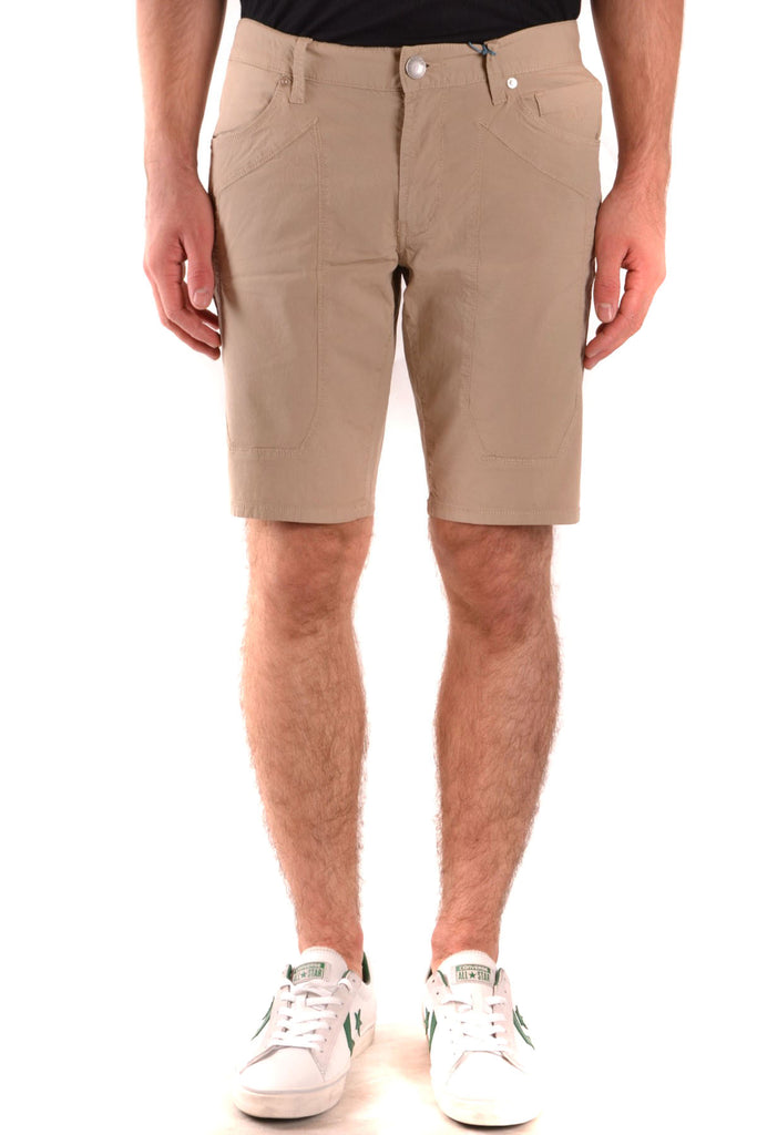 STYLE IS HIS FORTE BEIGE MEN'S SHORTS