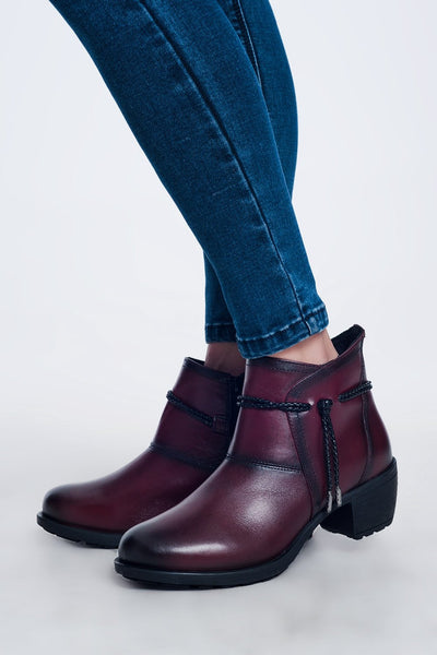 COLLATERAL DAMAGE RED WOMEN'S BOOTS
