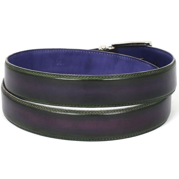 MEN'S LEATHER GREEN AND PURPLE BELT - Gimmerton