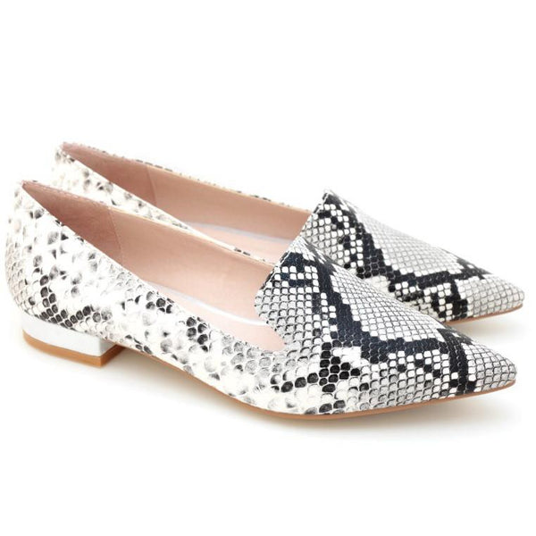 VALLEY OF QUEENS SNAKE PRINT WOMEN'S FLATS