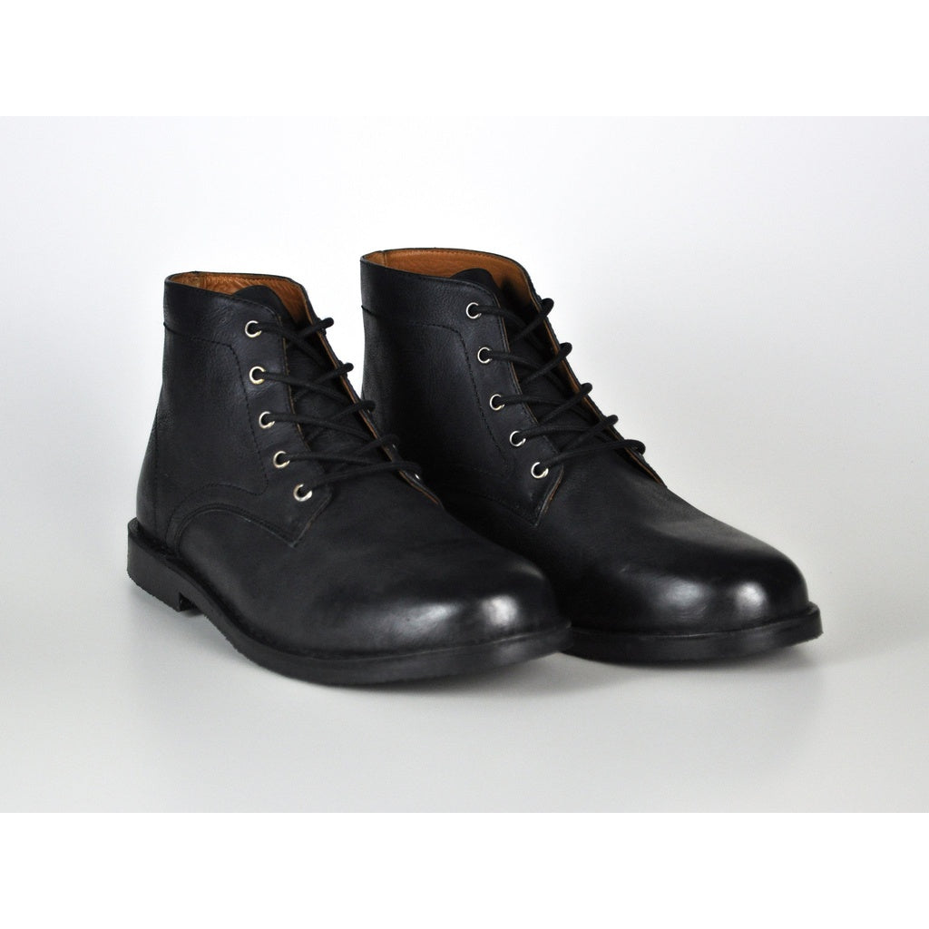 ROVER BLACK LEATHER BOOTS