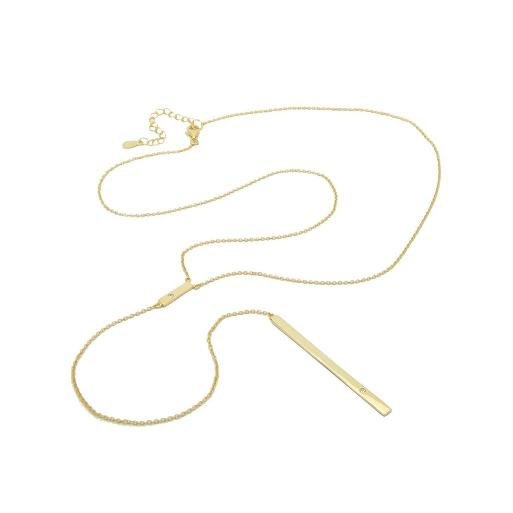 TIERED BAR GOLD PLATED NECKLACE