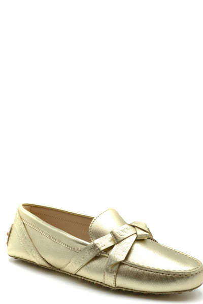 TOD'S DRIPPING IN GOLD WOMEN'S FLATS
