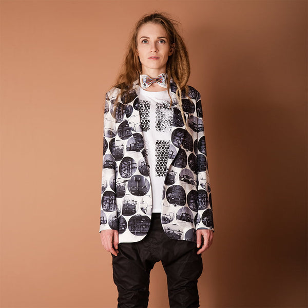 UNTAMED WOMEN'S PRINT BLAZER JACKET