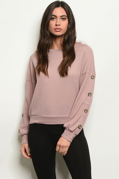 A LITTLE BIT JADED PINK WOMEN'S SWEATER