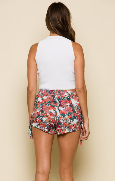 NEVER ENOUGH FLOWERS WOMEN'S SHORTS