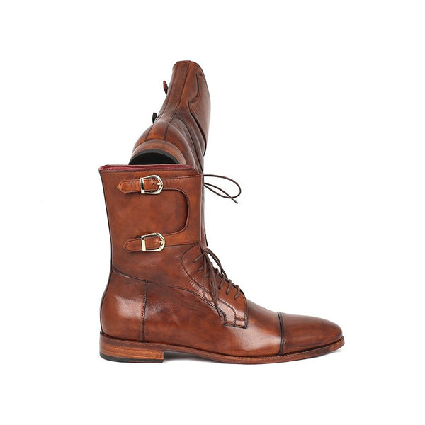 MILTON CAPTOE HIGH LEATHER BOOT - Gimmerton
