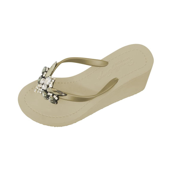 DRAGONFLIES ON THE BEACH HIGH WEDGE SANDAL