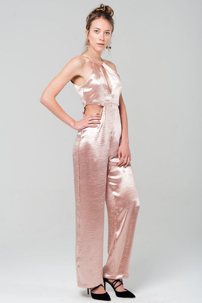 PINK WANDERESS OF CITY STREETS JUMPSUIT