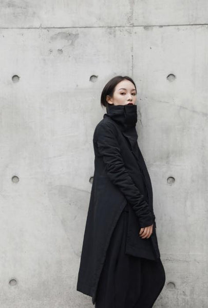 NINJA STREETWEAR BLACK WOMEN'S COAT