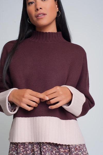 LADY LOUNGE MAROON WOMEN'S SWEATER