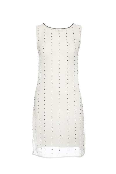 HOT STEPPER WHITE EMBELLISHED COCKTAIL DRESS
