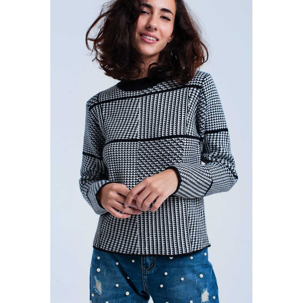 ROYAL EXPECTATION TEXTURED WOMEN'S SWEATER
