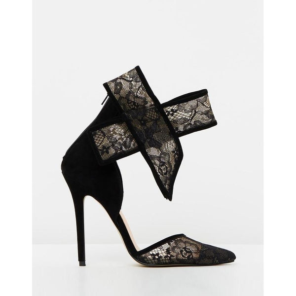 LOVELACE BOW LACE AND MESH PUMP - Gimmerton