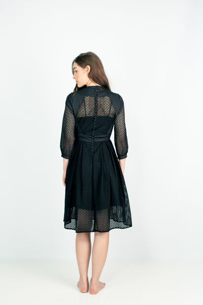 OUTSMARTING THE SUPERIORS MESH MIDI DRESS