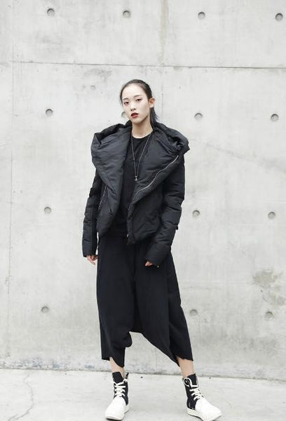 COZY NINJA BLACK WOMEN'S COAT