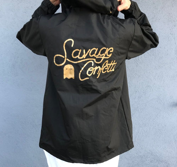 SAVAGE MEN'S BLACK JACKET