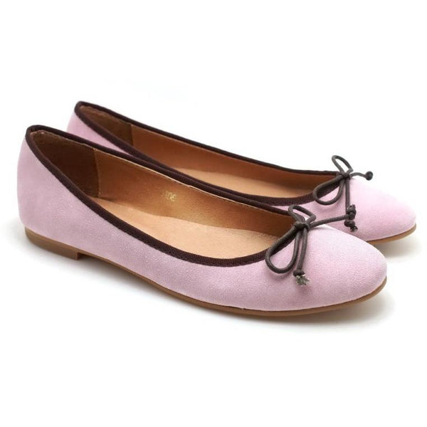 PARTY POPPER PINK SUEDE WOMEN'S FLATS