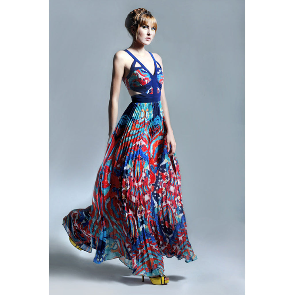 YOU ARE GLORIOUS PRINTED MAXI DRESS
