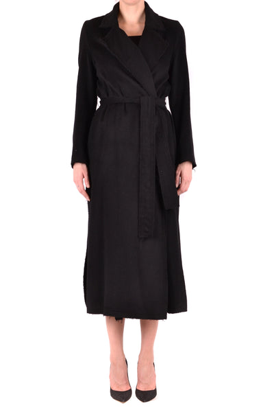 TRENCH COAT GODDESS BLACK WOMEN'S COAT