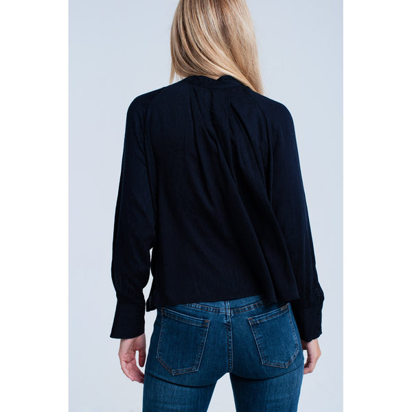 FLORENCE V NECK LONG SEEVE TOP - Gimmerton
