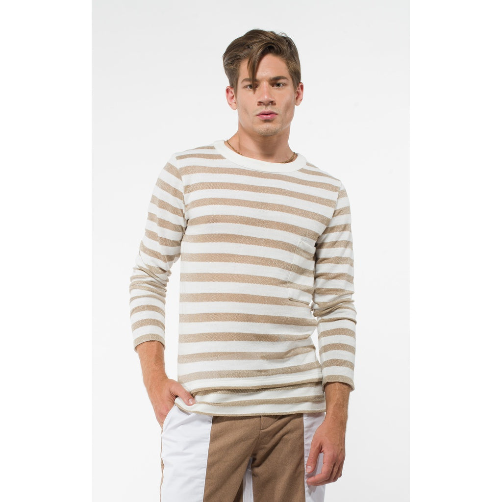 DWIGHT MEN'S STRIPED GOLD SWEATER - Gimmerton