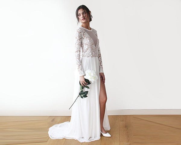 GATSBY'S SEXY, BEAUTIFUL AND ELEGANT BRIDE IN LACE LONG DRESS