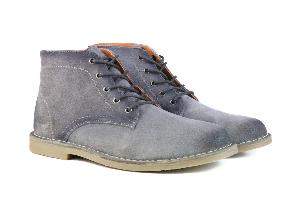 EBENEZER MEN'S BURNISHED GREY SUEDE MEN'S BOOT
