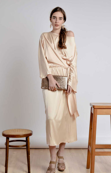 RECAPTURED LOVER PASTEL LONG DRESS