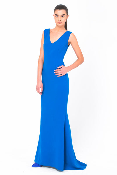 ROYAL ELEGANCE SHORT SLEEVE LONG DRESS